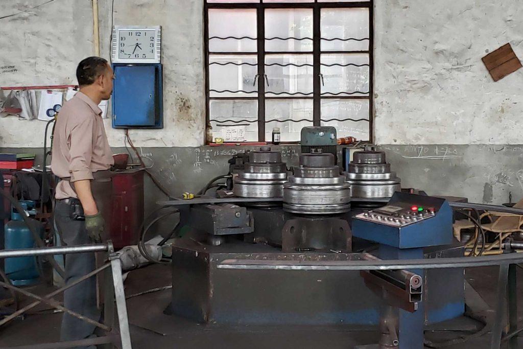 flat bar bending machine